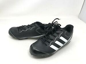 Boys Adidas (ABBC18) Rundown blk/white Baseball Cleats (7E)
