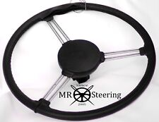 FOR MORRIS MINOR LUXURY BLACK PERFORATED LEATHER STEERING WHEEL COVER