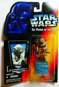 Star Wars Kenner The Power of the Force Yoda with Backpack BNOC 1995