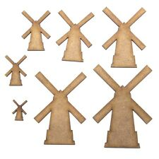 Windmill Craft Shape, Various Sizes, 2mm MDF Wood. Wind Mill