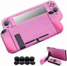 Hikfly Nintendo Switch Cover Case Silicone Gel Non-Slip Rubber Cover, Pink