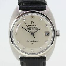 Vintage Omega 18ct Gold Diamond Automatic Chronometer Constellation Gents Watch