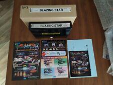 Neo Geo Mvs Full kit Blazing Star Matching serial excellent box mint label cart