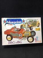 Rare Vintage 1973 Drag or Rag Lindberg 6361 A 1/24 Plastic Model Car Kit