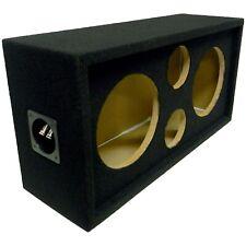 "Speaker Pod Enclosure Box Carpeted MDF fits 10"" Midrange/Woofers and 4"" Tweeters"