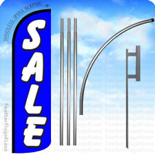 Sale - Windless Swooper Flag Kit 15' Feather Banner Sign - blue q
