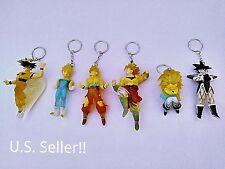 6PC - Dragon Ball Z Keychain - Super Saiyan Pack (Dragon Ball Z Llaveros)