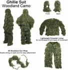 3D Tactical Camouflage Sniper Woodland For Hunting Army 4Pcs Ghillie Suit +bag