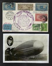 US 1929 First Around the World Graf Zeppelin Souvenir Real Photo card Eckener