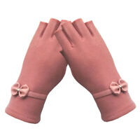 Elegant Half-Finger Fingerless Women Girl Gloves Mittens Women Winter Warmer