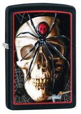 Zippo 28627 mazzi spider and skullblack matte Lighter RARE & DISCONTINUED