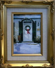 "Framed Oil Painting ""Front Door in the Season"" 9x11 in."