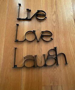 "Metal ""Live Laugh Love"" Wall Hanging Decor"