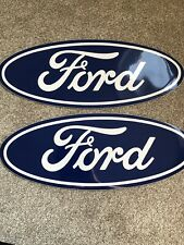 "PAIR FORD OVAL STICKERS  20"" X 7.5"""