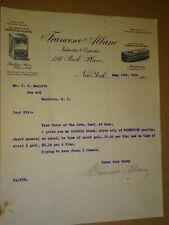 1915 letterhead Francesco Albano New York, NY Olive Oil Gragnano Macaroni