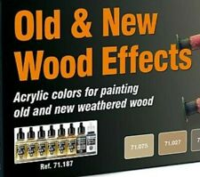 (12,49€/100ml) Vallejo 71187 Old & New Wood Effects model air Farben 8 x 17 ml