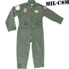 Mil-Com Kids Flying Suit Age 3 - 12 Army Boys Pilot Fancy Dress Overalls 3-4 Years