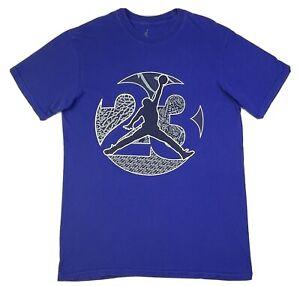 Nike Air Jordan Jump Logo Tee T-Shirt Purple Boys Size M Medium