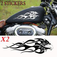 2 stickers autocollant aigle tribal pour reservoir moto
