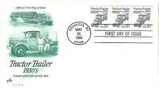 US 1994 TRACTOR TRAILER 1930s 10c #2258 Photograv Coil Strip ArtCraft FDC Cachet
