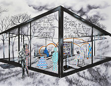 Life Existence Meaning Glass House Family - 11x14 Archival Print Ink