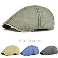 VOBOOM Solid Cotton Mens Gatsby Cap Ivy Hat Golf Driving Flat Cabbie Newsboy Cap