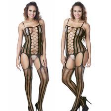 Lencería Erótica Para Mujer Vestido De Malla Fishnet Ropa Interior Babydoll media UK 8-14