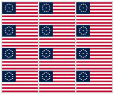 "12 qty of 3""x5"" USA Flag Decal Sticker - COWPENS 13 STAR 3rd MARYLAND AMERICAN"
