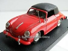 PORSCHE 356C CABRIOLET CAR RED 1/43RD SCALE BLACK ROOF ISSUE GERMAN J569 ~#~