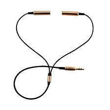 3,5mm Kopfhörer Doppelstecker Stereo Y-Adapter Verteiler Klinke AUX Splitter