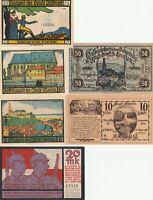 Vintage Group Lot of UNC German Notgeld Banknotes