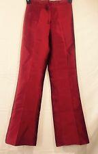 ETCETERA 100% SILK Red Women's Pleated Ladies Pants! Elegant and Mint! Sz 0