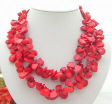 """18.5"""" 2 Strands Red Coral Necklace"""