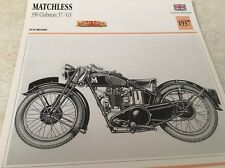 Fiche moto collection atlas motorcycle Matchless 350 Clubman 37 / G3 1937