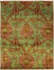 Rugstc 5x8 Senneh Chobi Ziegler Green Area Rug,Natural dye, Hand-Knotted,Wool
