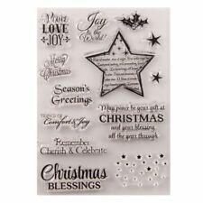 Transparent Clear Christmas Star Stamp Set Card Making/scrapbooking