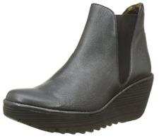 Fly London Women's Yoss Chelsea Wedge Boots Size UK 8 , EU 41 Graphite Grey