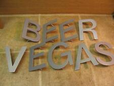 """6"""" Tall Metal Letters Sign B E E R V E G A S Beer Vegas??? Gear??? Repurpose"""