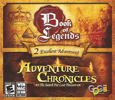 BOOKS OF LEGENDS & ADVENTURE CHRONICLES 2x Adventure PC/Mac Games NEW SEALED!