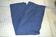 military air force USAF womens slacks 10R un-hemmed blue 60 poly 40 wool