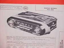 1957 DODGE ROYAL CORONET DESOTO ADVENTURER CONVERTIBLE AM RADIO SERVICE MANUAL 2