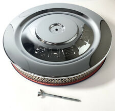 """Chrome HIPO Air Cleaner Assembly 5 1/8"""" Neck w/ """"Shelby"""" Cobra Stamped Lid"""