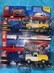 2 Auto World CS Customs Exclusive 1st time package 2 truck & trailer Both Ver