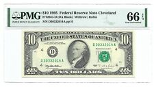 1995 $10 CLEVELAND FRN, PMG GEM UNCIRCULATED 66 EPQ BANKNOTE, 1st of 2