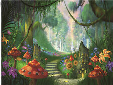 Fairy Tale Jungle Forest Thin Vinyl Photography Backdrop Background 7X5FT TH08