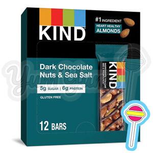 36 x 40g Kind Dark Chocolate Nuts & Sea Salt Bars | Gluten Free | BB: 31/05/21
