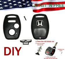 For 2010 2011 2012 Honda Insight WITHOUT chip holder Key Fob Shell