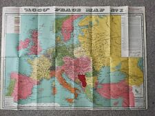 """Vintage """"ACCO"""" PEACE MAP No. 1 - The New Europe 1915"""
