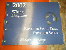 2002 FORD EXPLORER SPORT TRAC SPORT FACTORY WIRING DIAGRAMS MANUAL SERVICE