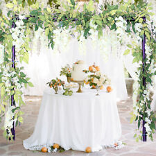 4pcs Artificial Wisteria Garland Flowers Vine Rattan Hanging Wedding Decor